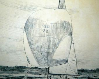 Intrepid 1970 - 12x16 Sketch - By Robert James Pailthorpe
