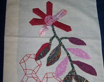 Large Flower Applique Quilt Block