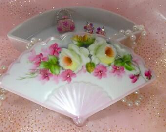 fan Trinket Box in Pink