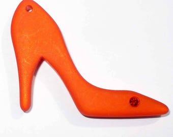 1 heel charm polaris and Swarovski hyacinth orange 35x28mm TALONORAN
