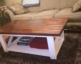 Coffee Table ( rustic 2 tone)