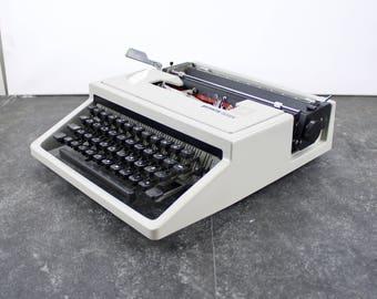 Vintage gray Olivetti Dora typewriter