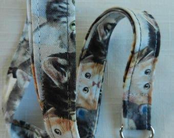 Cats  Print fabric neck lanyard