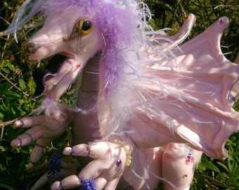 Dragon Feathered Pink
