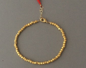 Gold Nugget Beaded Layering Bracelet