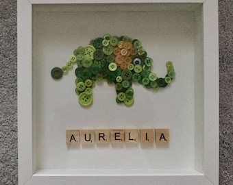 Personalised Button Wall Art