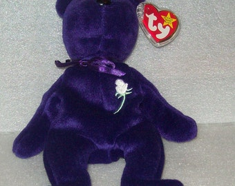 Beanie Baby 1st Edition Princess Diana- Made in Indonesia 1997- Pristine