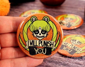 "2.25"" HALLOWEEN EDITION: Sailor Muerte I Will Pin-ish YOU (2.25"" Pinback Button)"