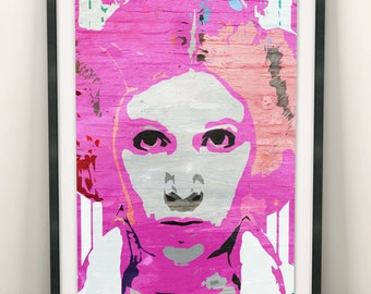 Princess Leia Star Wars Pop Art (Limited Edition of 100) - A3 Vintage Woman Pink Poster Street Art Print Decor Graffiti Wall Art Gift Rare