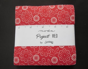 Sweetwater -Project Red Charm Pack - For Moda