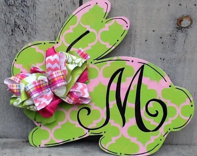 Easter bunny sign,  easter bunny door hanger,  easter bunny sign, spring door hanger