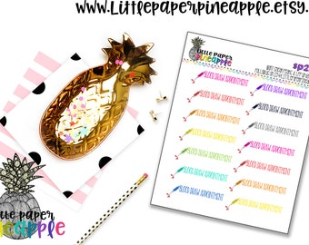 Blood Draw Appointment Planner Stickers // Repositionable Matte Stickers   SP21