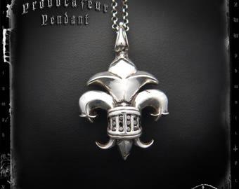 Relic Fleur De Lis Diamond Pendant in Sterling Silver | PROVOCATEUR