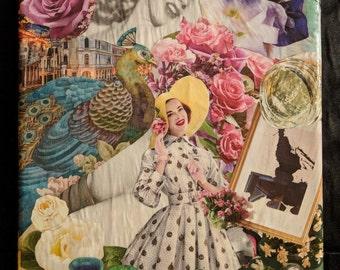 "Handmade Collage Wall Art ""Lovely"""