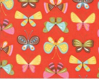Wing & Leaf Flutter Persimmon Moda  Item 10062-18