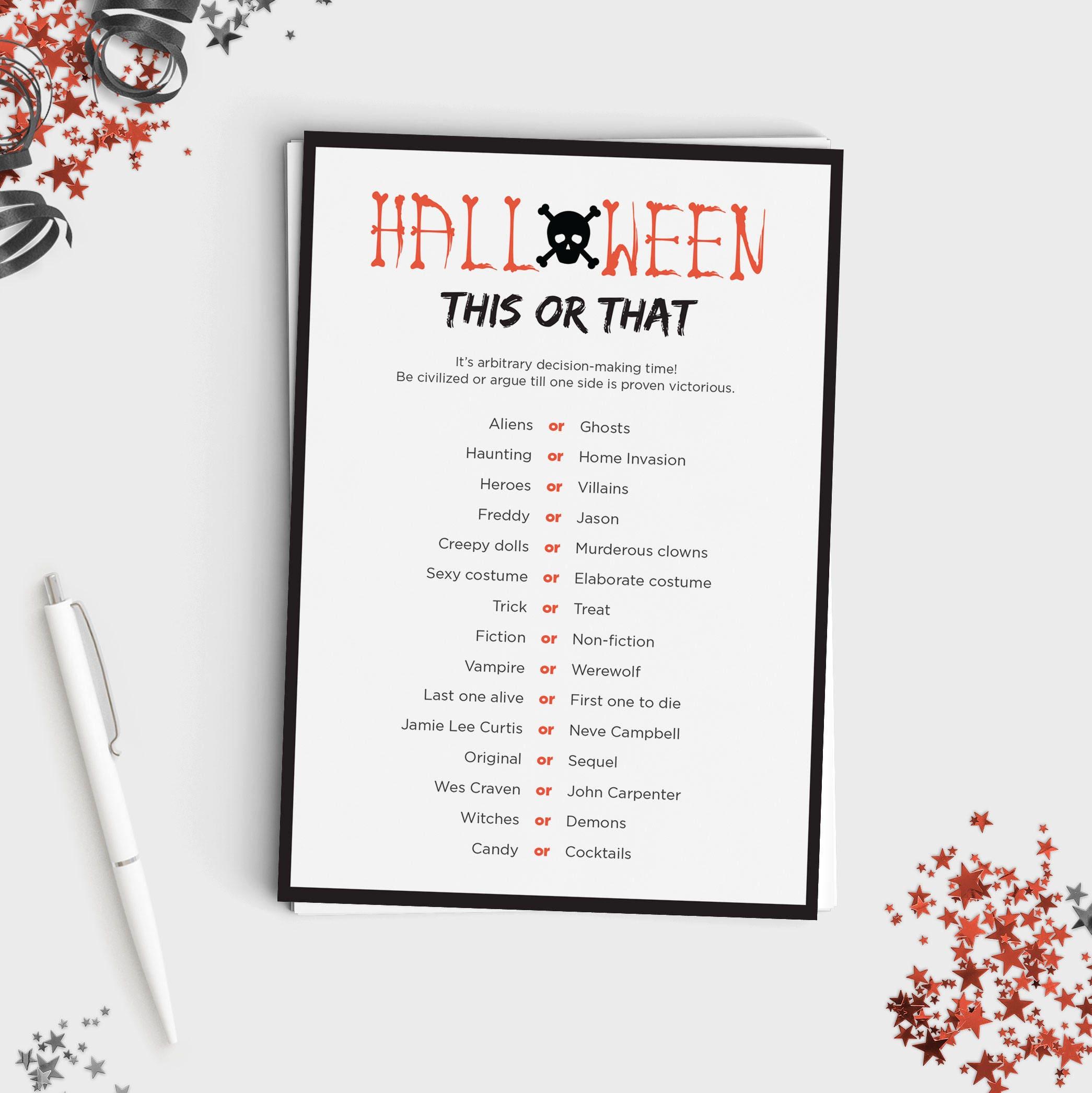5 Halloween Games Bundle Fun Halloween Party Games for
