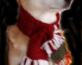 Large Christmas Scarves for Your Dog  21-25 inch neck circumference