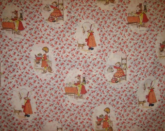 Holly Hobbie fabric retro old fashioned ( 26 x  46 inches )