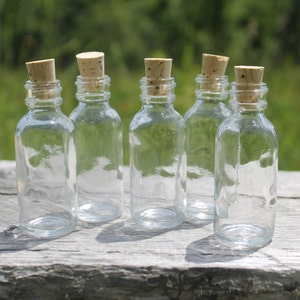 Tiny Flint Glass Bottles with Cork Tops-1oz and 2oz - Belle Savon Vermont