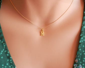 Gold Initial necklace initial choker gold Letter necklace gold dainty initial necklace gold initial jewelry silver initial gold necklace