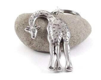 SALE Giraffe Key Chain, Keychain, Keyring