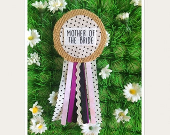 Mother of the Bride Hen Party Rosette Badge