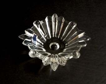 Waterford Marquis Sun Dish, Made in Italy, Small Crystal Dish, Crystal Ring Dish, Crystal Votive Dish, Crystal Condiment Dish