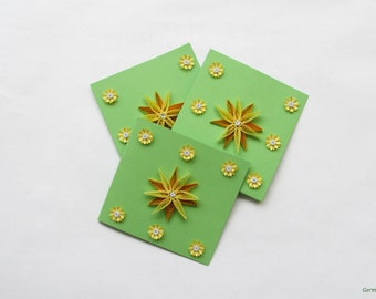 Quilling Flower Card Set, Set of 3 Greeting Cards, Blank Birthday Cards, Thinking of you cards, Congratulation cards