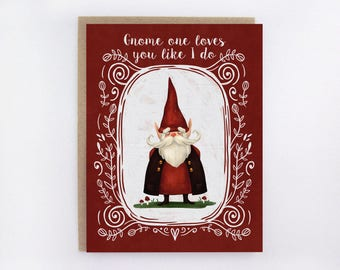 Gnome Love - Greeting Card
