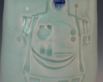 Coupe à la main Robot Design porcelaine poterie
