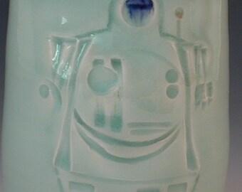 Handmade Cup Robot Design Porcelain Pottery