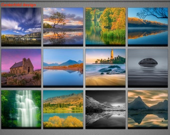 2018 New Zealand Calendar, Photography, Monthly Wall Calendar, Yearly Desk calendar, Landscapes, Cityscapes, Beachscapes Photography