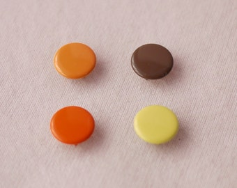 50 sets, Autumn Shade (4 Colors) Capped Prong Snap Button, Size 16L (10 mm)