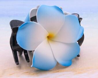 Flower Hair  Claw,  Choose The Color, Acrylic Hair Claw, Foam Flowers, Plumeria