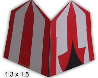 Carnival Circus Tent Gift Tags Printable Color Digital PDF (custom colors available)
