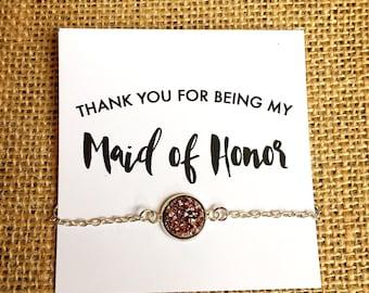 Maid of Honor Gift - Thank You Gift - Bridal Party - Bridesmaid
