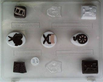 Movie Themed Mold Candy Chocolate Soap Ice Crayon Candle Fondant Baking Supplies Jenuine Crafts