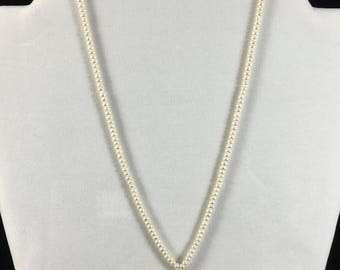 Freshwater Pearl Necklace with Pearl Pendant, 17 inches