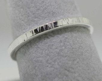 Textured Trinket Ring- Stackable
