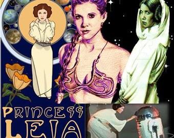 Princess Leia Coasters - Set of 8