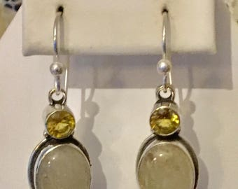 Sterling Silver Rutilated Quartz Earrings