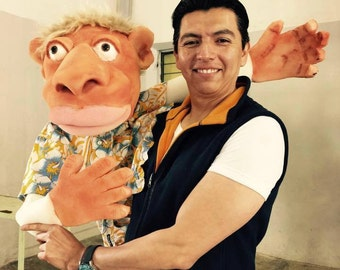 Online Workshop, create your puppet at home, foam puppets.