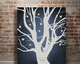 Wedding gift for couples Newlywed Engagement Wedding guest book Wedding gifts Personalized Family tree gift Gift for him Tree art print