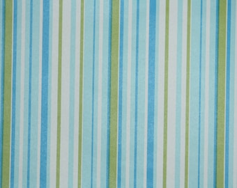 Retro Wallpaper by the Yard 70s Vintage Wallpaper - 1970s Blue and Green Stripes