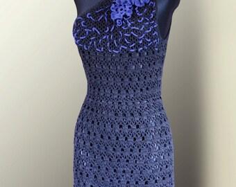 Crochet One Sholder Dress Pattern 237