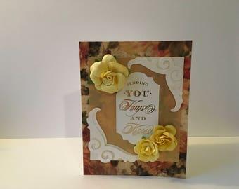 Handmade Sending Hugs and Kisses Card