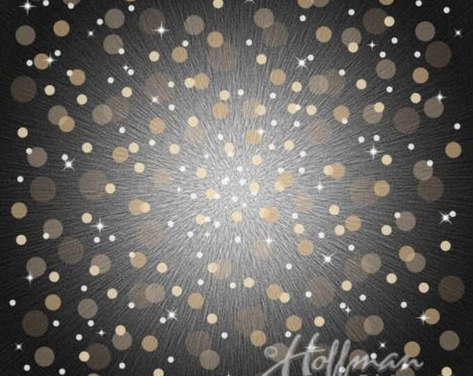 Supernova Seasonal Panels by Hoffman Fabrics - Champagne - Digitally Printed Cotton Woven Fabric