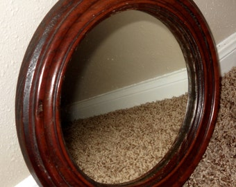 Round Wood Mirror  - Mirror - Home Decor - Round Mirror - Nautical Mirror - Wood Mirror
