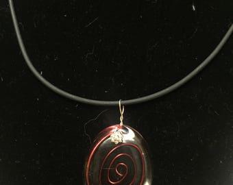 Wire spiral necklace
