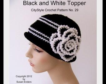 Crochet Hat Pattern, Crochet Rose Pattern, Flower Pattern, Chemo Hat Pattern, Women Hat Pattern, Teen Hat Pattern, Easy Crochet Pattern